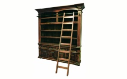 "Factory 7 96"" 2-Piece Bookcase with Ladder"