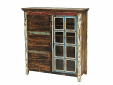 Cabana File Cabinet with Curio Bookshelves