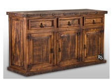 Laredo Distressed 3-Drawer 3-Door Buffet