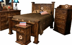 Laredo Queen Oasis Bed w/ Marble Star