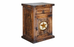 Laredo Nightstand with Marble Star