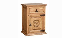 Rustic 3 Drawer Nightstand w/ Texas Star