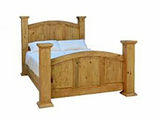 Rustic Queen Mansion Bed