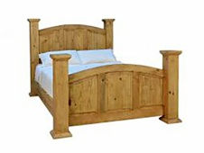 Rustic King Mansion Bed